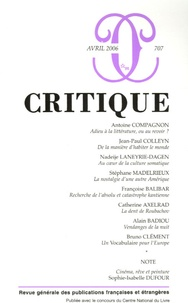 Antoine Compagnon et Jean-Paul Colleyn - Critique N° 707, Avril 2006 : .