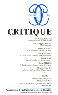 Jean-Marie Schaeffer et Jean-Philippe Narboux - Critique N° 708, Mai 2006 : .