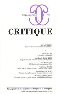 Philippe Roger et Michel Serres - Critique N° 726, novembre 200 : .