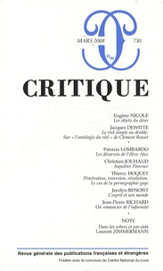 Eugène Nicole - Critique N° 730, Mars 2008 : .