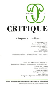 """Camille Riquier et Antoine Compagnon - Critique N° 732/64, mai 2008 : """"Bergson en bataille""""."""