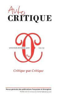 Marc Augé et Françoise Balibar - Critique N° 740-741, Janvier- : Critique par Critique.