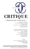 """Guillaume Paugam et Jacqueline Chénieux-Gendron - Critique N° 749, Octobre 2009 : """"Michel Foucault : de Kant à Soi""""."""