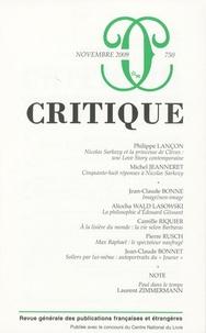 Michel Jeanneret et Jean-Claude Bonne - Critique N° 750, Novembre 200 : .