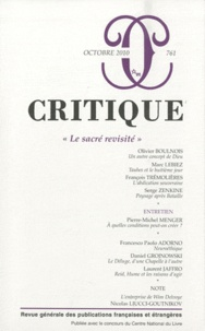 Olivier Boulnois et Marc Lebiez - Critique N° 761, Octobre 2010 : Le sacré revisité.