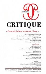 """Mathieu Potte-Bonneville et Martin Rueff - Critique N° 766, Mars 2011 : """"François Jullien, retour de Chine""""."""