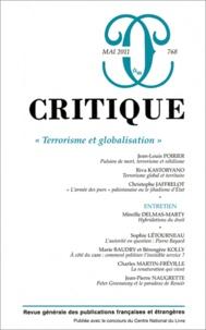 Jean-Louis Poirier et Riva Kastoryano - Critique N° 768, Mai 2011 : Terrorisme et globalisation.