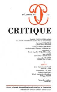 Frédéric Fruteau de Laclos et Bertrand Guillarme - Critique N° 775 : .