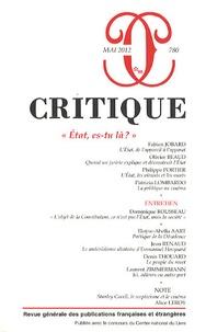 Philippe Roger - Critique N° 780, Mai 2012 : Etat, es-tu là?.