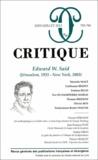 Philippe Roger - Critique N° 793-794, juin-jui : Edward W Said.