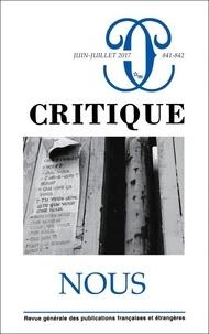 Marielle Macé - Critique N° 841-842, juin-jui : Nous.