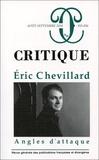 Philippe Roger - Critique N° 855-856, août-sep : Eric Chevillard - Angles d'attaque.