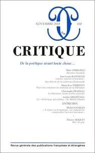 Philippe Roger - Critique N° 858, novembre 201 : .