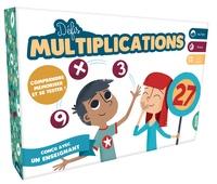 Peskimo et Anne Ricard - Défis multiplications - Contient 100 cartes recto verso des tables de mutiplications, 2 tables de multiplications, 42 pions.