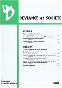 Jean-Paul Brodeur - Déviance et Société Volume 14 N° 2, Juin : .