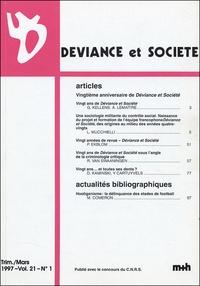 Georges Kellens - Déviance et Société Volume 21 N° 1, Mars : .