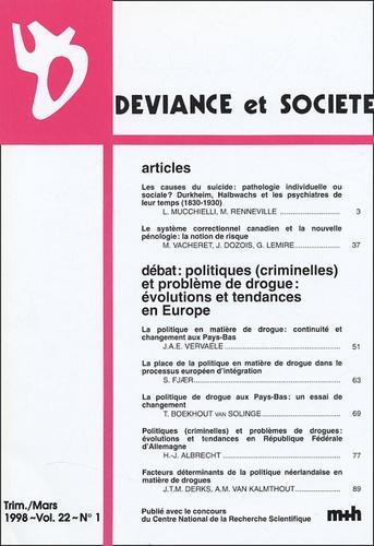 Laurent Mucchielli - Déviance et Société Volume 22 N° 1, Mars : .