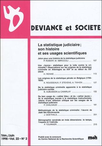Philippe Robert - Déviance et Société Volume 22 N° 2, Juin : .