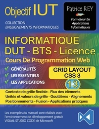 Patrice Rey - DUT Informatique - Tome 13, Grid Layout, avec Visual Studio Code.