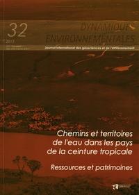 Luc Ferry et Michel Mietton - Dynamiques environnementales N° 32/2013 : Chemins et territoires de l'eau dans les pays de la ceinture tropicale - Ressources et patrimoine.