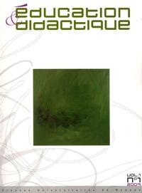 Yves Chevallard et Andrée Tiberghien - Education & didactique N° 1 : .