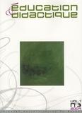 Monique Loquet - Education & didactique Volume 1 N° 3/2007 : .