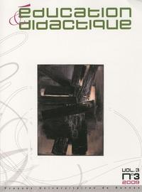 Yannick Le Marec et Dominique Bucheton - Education & didactique Volume 3 N° 3/2009 : .