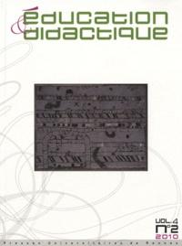 Yona Carrion et Jérôme Guérin - Education & didactique Volume 4 N° 2, Novem : .