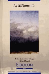 Gérard Peylet - Eidôlon N° 102 : La mélancolie.