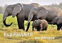 Juergen Feuerer - Éléphants en Afrique (Calendrier mural 2020 DIN A4 horizontal) - Les éléphants d'Afrique sont imposants et puissants à la fois, mais parfois aussi affectueux et attentionnés. (Calendrier mensuel, 14 Pages ).