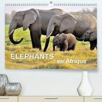 Juergen Feuerer - Éléphants en Afrique (Calendrier supérieur 2020 DIN A2 horizontal) - Les éléphants d'Afrique sont imposants et puissants à la fois, mais parfois aussi affectueux et attentionnés. (Calendrier mensuel, 14 Pages ).