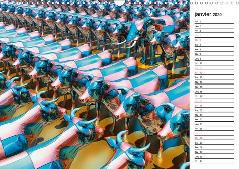 Emotion virtuelle (Calendrier mural 2020 DIN A3 horizontal). Créations imaginaires numériques (Calendrier anniversaire, 14 Pages )