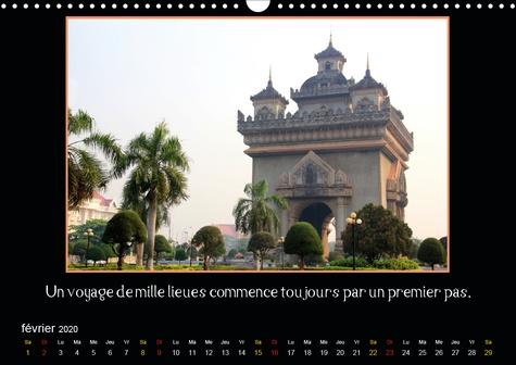 En Asie du Sud-Est (Calendrier mural 2020 DIN A3 horizontal). Un calendrier pour les voyageurs et ceux qu'ils veulent l'être. Avec citations de voyage. (Calendrier mensuel, 14 Pages )