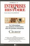 Ahmed Bounfour - Entreprises et Histoire N° 60, Septembre 201 : De l'informatique aux systèmes d'information dans les grandes entreprises.