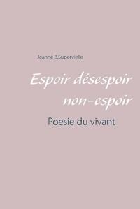 Jeanne B Supervielle - Espoir désespoir non-espoir - Poésie du vivant.