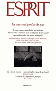 Marc-Olivier Padis - Esprit 388, octobre 2012 : La pauvreté perdue de vue.