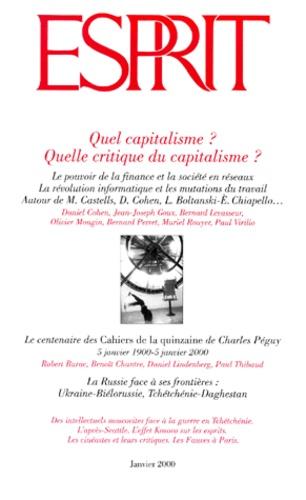 Jean-Joseph Goux et  Collectif - Esprit N° 261 Janvier 2000 : Quel capitalisme ? Quelle critique du capitalisme ?.