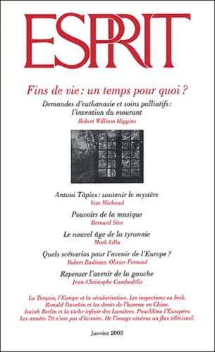 Esprit - Esprit N° 291 Janvier 2003 : Fins de vie : un temps pour quoi ?.