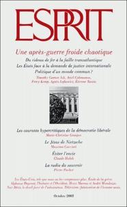 Olivier Mongin et Percy Kemp - Esprit N° 298 Octobre 2003 : Une après-guerre froide chaotique.
