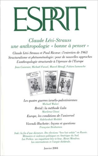 """Abdelwahab Meddeb et Jacques Delors - Esprit N° 301 Janvier 2004 : Claude Lévi-Strauss - Une anthropologie """"bonne à penser""""."""