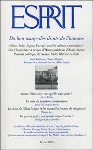 Olivier Mongin et  Collectif - Esprit N° 312, Février 2005 : Du bon usage des droits de l'homme.