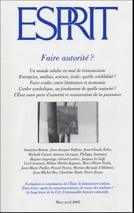 Michaël Foessel et Stanislas Breton - Esprit N° 313, Mars-Avril 2 : Faire autorité ?.