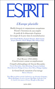 Marius Schattner et Jacques Donzelot - Esprit N° 316, Juillet 2005 : L'Europe plurielle.