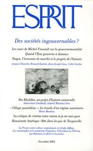 Jacques Donzelot et Jean-Joseph Goux - Esprit N° 319, Novembre 200 : Des sociétés ingouvernables ?.