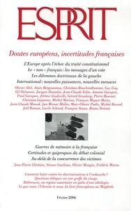 Olivier Abel et Alain Bergounioux - Esprit N° 322, Février 2006 : Doutes européens, incertitudes françaises.