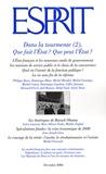 Philippe Bezes et Marc-Olivier Padis - Esprit N° 350, Décembre 200 : Dans la tourmente - Tome 2, Que fait l'Etat ? Que peut l'Etat ?.