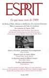 Frédéric Worms et Jean-Philippe Béja - Esprit N° 358, Octobre 2009 : Ce qui nous reste de 1989.