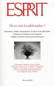 Marc-Olivier Padis - Esprit N° 383, mars-avril 2 : Où en sont les philosophes ?.