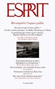Marc-Olivier Padis - Esprit N° 389, Novembre 201 : Reconquérir l'espace public.