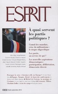 Marc-Olivier Padis - Esprit N° 397, août-septemb : A quoi servent les partis politiques ?.